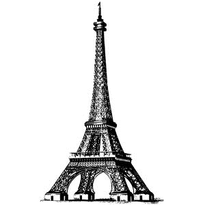 Tim Holtz Rubber Stamp EIFFEL TOWER Stampers Anonymous V2-2109 zoom image