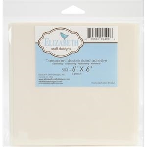 Elizabeth Craft Designs 6 x 6 CLEAR TAPE SHEET Double Sided Pack of 5 00409