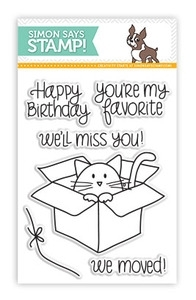 Simon Says Clear Stamps FURRY CAT and BOX sss101311 Preview Image