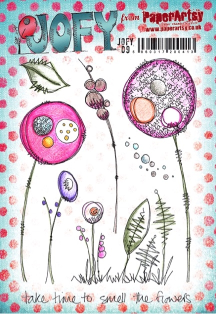 Paper Artsy JOFY 09 Smell The Flowers Rubber Cling Stamp JOFY09 zoom image