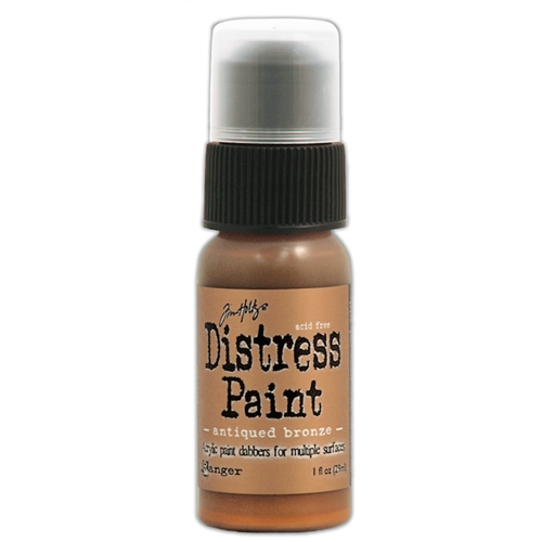 Tim Holtz Distress Paint ANTIQUED BRONZE Ranger Metallic TDD36289 Preview Image