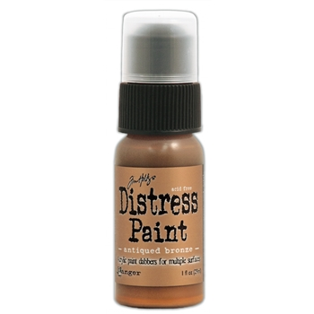 Tim Holtz Distress Paint ANTIQUED BRONZE Ranger Metallic TDD36289
