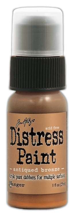 Tim Holtz Distress Paint ANTIQUED BRONZE Ranger Metallic TDD36289 zoom image