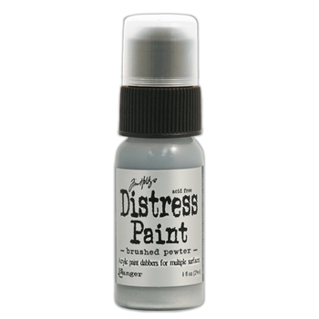 Tim Holtz Distress Paint BRUSHED PEWTER Ranger Metallic TDD36326