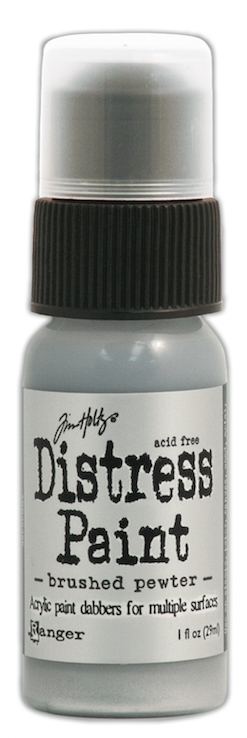 Tim Holtz Distress Paint BRUSHED PEWTER Ranger Metallic TDD36326 zoom image
