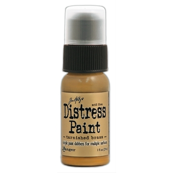 Tim Holtz Distress Paint TARNISHED BRASS Ranger Metallic TDD36487