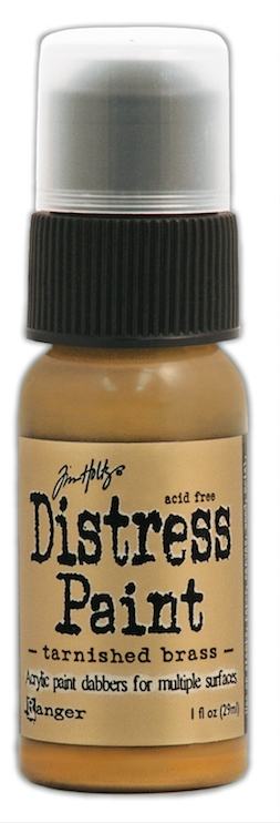 Tim Holtz Distress Paint TARNISHED BRASS Ranger Metallic TDD36487 zoom image