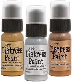 Tim Holtz Distress Paint METALLIC SHADES SET OF 3 Ranger TIMMSS3