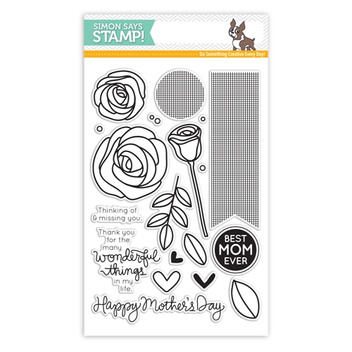Simon Says Clear Stamps BEST MOM EVER SSS130501 Mothers Fathers Florals * Preview Image