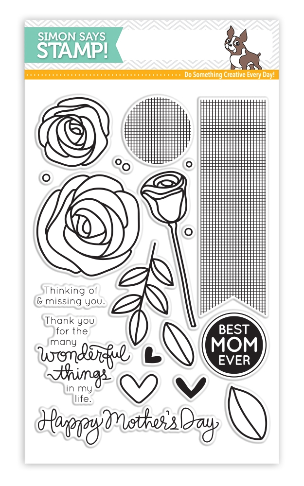 Simon Says Clear Stamps BEST MOM EVER SSS130501 Mothers Fathers Florals * zoom image