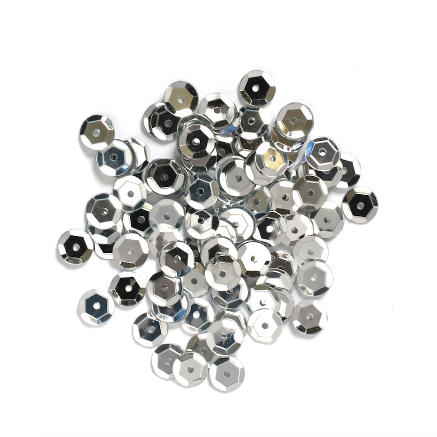 Darice 5MM SILVER Sequins 10043-19 zoom image