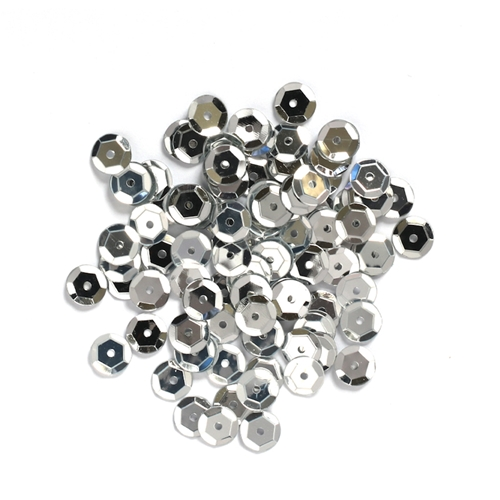 Darice 8MM SILVER Sequins 10044-19 Preview Image