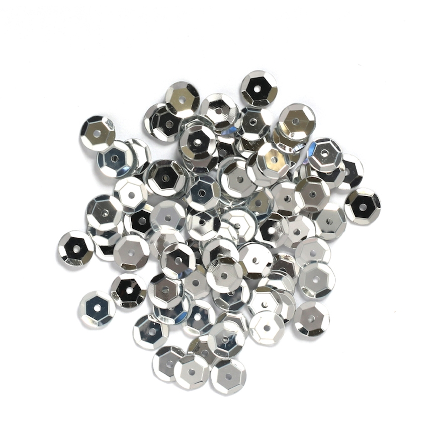Darice 8MM SILVER Sequins 10044-19 zoom image