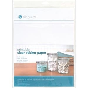 Silhouette PRINTABLE CLEAR STICKER PAPER Specialty Media