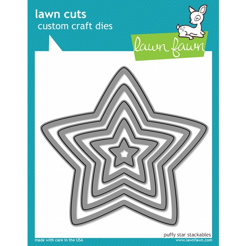 Lawn Fawn PUFFY STAR STACKABLES Lawn Cuts Dies LF521 Preview Image