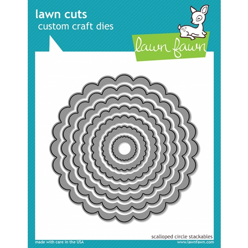 Lawn Fawn SCALLOPED CIRCLE STACKABLES Lawn Cuts Dies LF523 Preview Image