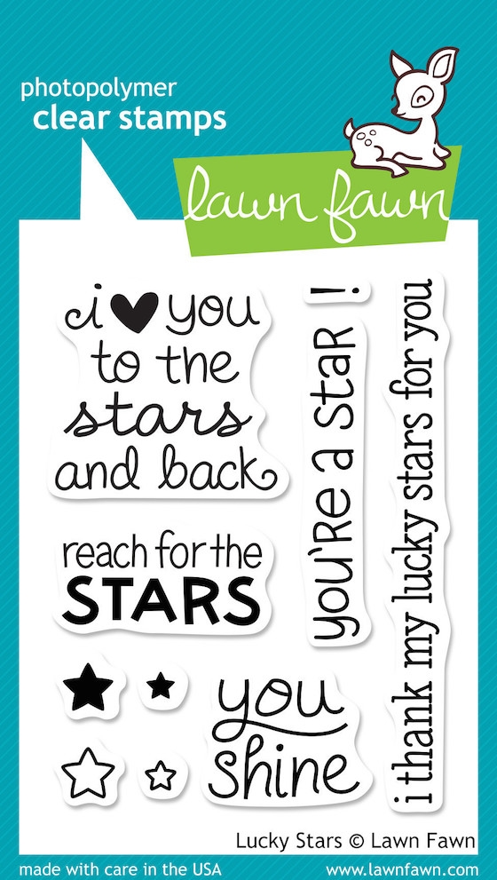 Lawn Fawn LUCKY STARS Clear Stamps LF514 zoom image