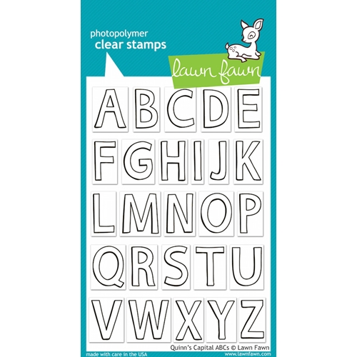 Lawn Fawn QUINN'S CAPITAL ABC'S Clear Stamps LF509 Preview Image