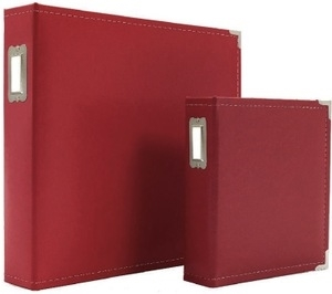 Simple Stories RED 6 x 8 Leather Binder 4035