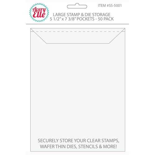 Avery Elle LARGE Stamp and Die Storage Pockets 5.5 x 7.375 Set of 50 SS-5001 Preview Image