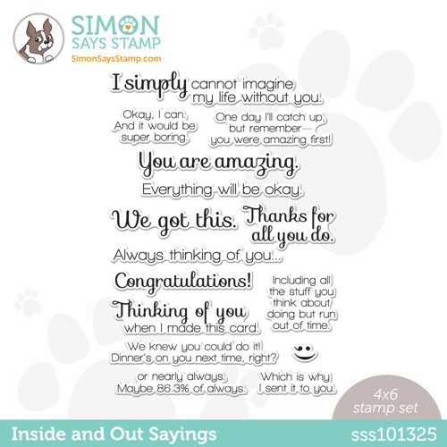 Simon Says Clear Stamps INSIDE AND OUT SAYINGS SSS101325 Preview Image
