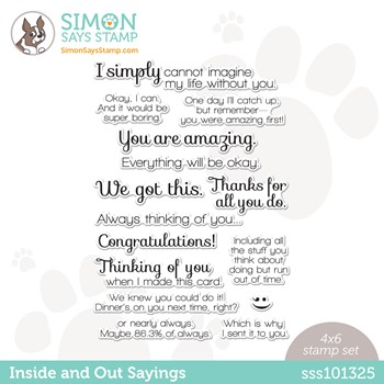 Simon Says Clear Stamps INSIDE AND OUT SAYINGS SSS101325