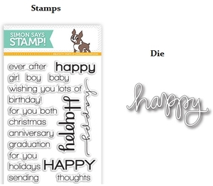 Simon Says Stamps And Dies HAPPY SENTIMENTS setHS19 zoom image