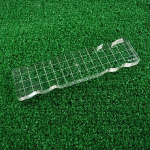 Lawn Fawn 2 x 8 Inch Acrylic RECTANGLE Grip Block with Grid zoom image