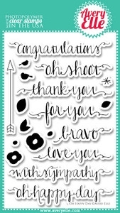 Avery Elle Clear Stamps OH HAPPY DAY Set ST-13-19 Preview Image