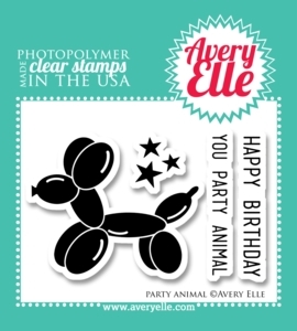 Avery Elle Clear Stamps PARTY ANIMAL Set ST-13-24 zoom image