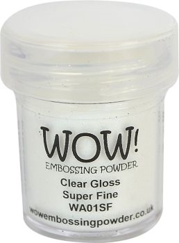 WOW Embossing Powder CLEAR GLOSS SUPER FINE WA01SF zoom image