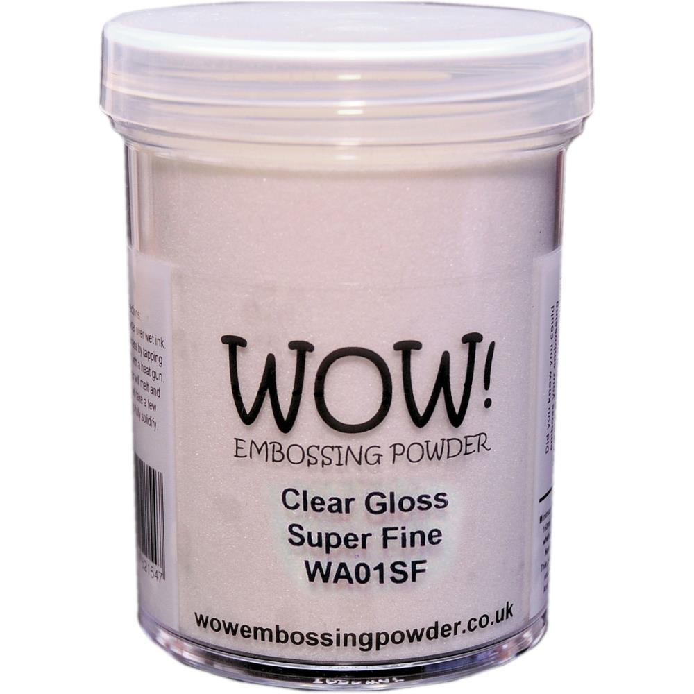 WOW Embossing Powder CLEAR GLOSS SUPER FINE LARGE JAR WA01SF-L zoom image