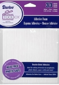 Darice ADHESIVE FOAM 33 Double Sided Strips 1206-01 zoom image