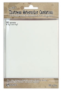 Tim Holtz 4.25 X 5.5 DISTRESS WATERCOLOR CARDSTOCK Ranger TDA39549 zoom image