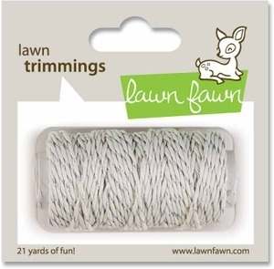Lawn Fawn SILVER SPARKLE Single Cord Trimmings LF526 zoom image