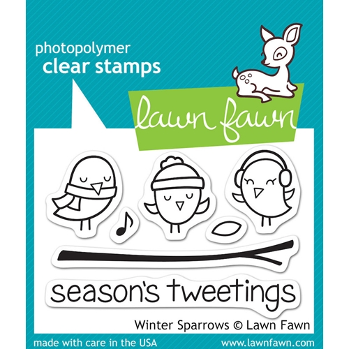 Lawn Fawn WINTER SPARROWS Clear Stamps LF565 Preview Image