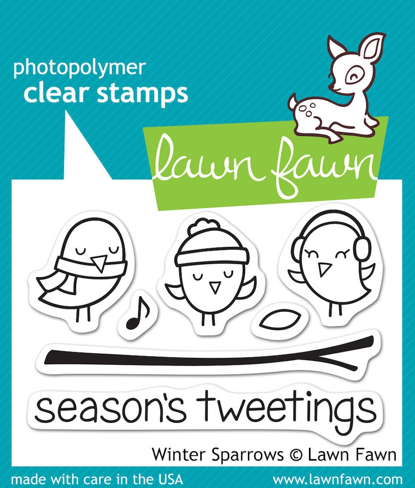 Lawn Fawn WINTER SPARROWS Clear Stamps LF565 zoom image