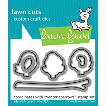 Lawn Fawn WINTER SPARROWS Lawn Cuts Dies LF573*