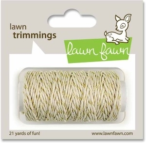 Lawn Fawn GOLD SPARKLE Single Cord Trimmings LF525 Preview Image