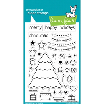 Lawn Fawn TRIM THE TREE Clear Stamps LF564