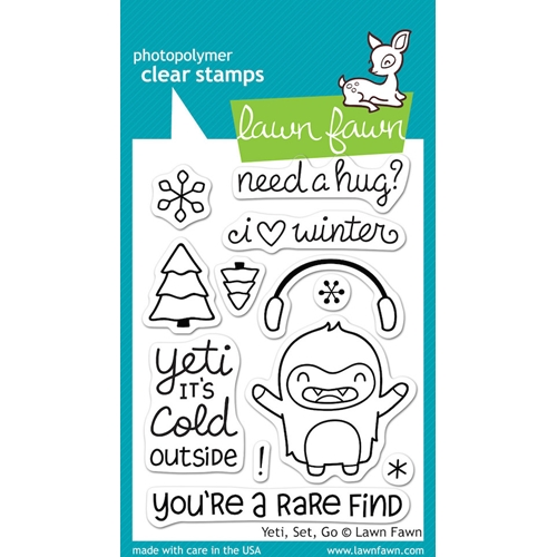 Lawn Fawn YETI SET GO Clear Stamps LF567* Preview Image