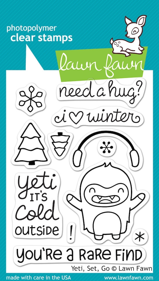 Lawn Fawn YETI SET GO Clear Stamps LF567* zoom image