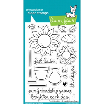 Lawn Fawn OUR FRIENDSHIP GROWS Clear Stamps LF556
