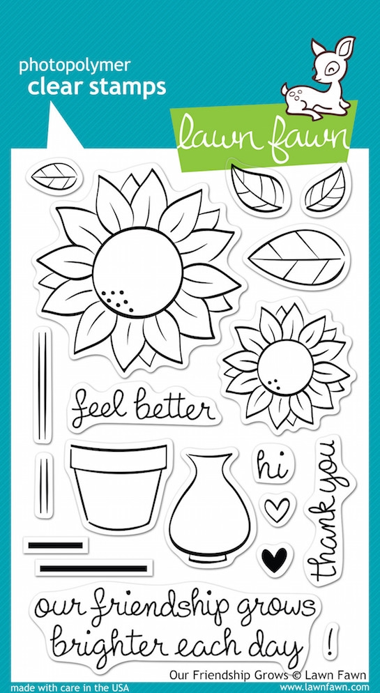 Lawn Fawn OUR FRIENDSHIP GROWS Clear Stamps LF556 zoom image