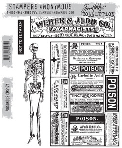 Tim Holtz Cling Rubber Stamps POISONOUS CMS171 Preview Image