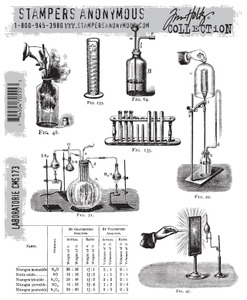 Tim Holtz Cling Rubber Stamps LABORATORIE cms173
