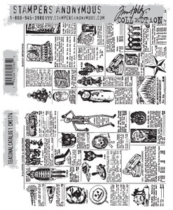 Tim Holtz Cling Rubber Stamps SEASONAL CATALOG 1 cms174 Preview Image