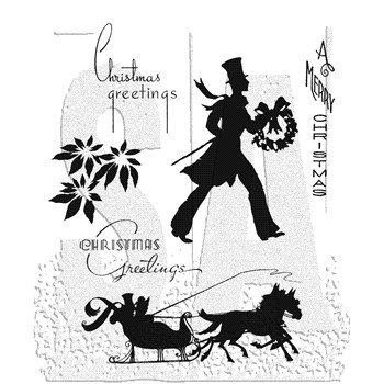 Tim Holtz Cling Rubber Stamps DECO CHRISTMAS cms176