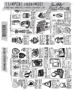 Tim Holtz Cling Rubber Stamps SEASONAL CATALOG 2  cms178  zoom image