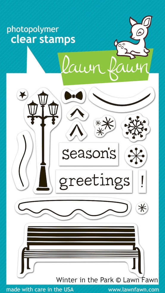 Lawn Fawn WINTER IN THE PARK Clear Stamps LF570 zoom image